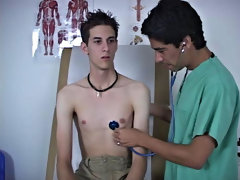 The doc asked for me to take off my underclothes when that guy got to a certain point, and this guy helped with pulling 'em down gay twink cum