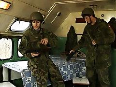Naked military men fucking and military big cock examination