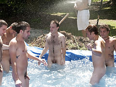 There is nothing like a admirable summer time splash, especially when the pool is fellow made and ghetto rigged as fuck free gay galleries group ne