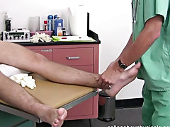 This will help him by taking his mind off his ankle and transfer the pain with pleasure guys jerking off free