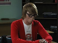 It's after school and a geeky boy is getting a pep talk from a smokin' concupiscent male teacher his first gay porno at Teach Twinks