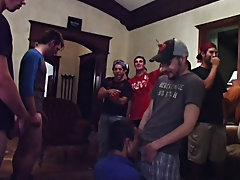 when one of the pledges got cocky they had his give lil jacob some head groups of men naked in th