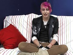 Jay Donohue shows off his colorful personality and style in his interview video first gay black gangbang at Boy Crush!