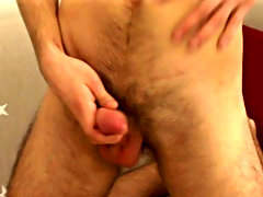 AJ pulls dippy his clothes and exposes his massive cock masturbation at home males