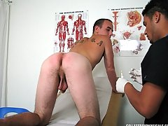Ajay commented on my body, and made fun of how much ear wax I had gay cum exchange