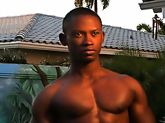 """""""Hey there honcho, is that a dumbbell in your swimming trunks or are you just happy to see me"""" gay black porn"""