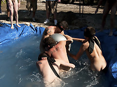 I mean its not embarrassing enough playing naked in a nasty  pool free gay group sex movies