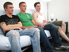 Scott had certainly paid attention when receiving a blowjob as he had Ryan groaning in pleasure while Leon was lavishing attention on just the head of