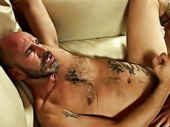 He's older, he's smarter, he's bold, he's tattooed, and the twink is already hard fucking mature man sex