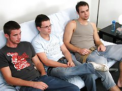 The boys open the futon and get ready to write down advantage of Dylan's ass yahoo group  guys jerking off