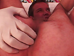 Two long-time gay boyfriends welcome their bi-curious roommate to the world of gay sex by giving him an unforgettable anal massage and barebacking him