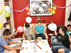 Twinks Happy Birthday party young gay teens first time at Julian 18