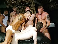 Not in any degree in preference to has a young lad looked so happy to be submersed, surrounded and drowned in a flood of new cock, cum, gob and sweaty