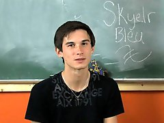 We start off hearing where Skyelr Bleu is from and what he likes best round his hometown gay twinks hardcore at Teach Twinks