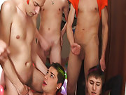 Gay groups nudist and gay porn group sex xxx at Crazy Party Boys