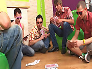 Gay orgy group and gay and bi male group sex at Crazy Party Boys