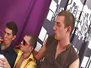 Teen jerking gay men group and gay men group sex at Crazy Party Boys