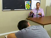 Jacobey sucks Wade's cock to warm him up before his teacher takes control, blowing him and eating his ass my first time sex wit at Teach Twinks