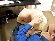After some greedy oral, Alex fucks Timo all over his office twink gay nude at My Gay Boss