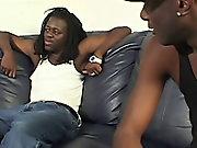 Gay black guy gives blowjob and gay teen black cock