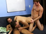 Brian Bonds and Marc Peron need a fresh PA in the office and Ryan Sharp is assured he is the one for the job nasty group gay sex xxx at My Gay Boss