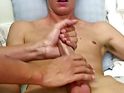 It didn't take long for this hot twink to explode his gusher of cum male fruit masturbation