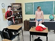 It's after educational institution and a geeky  is getting a pep talk from a smokin' hot male teacher twink male cum at Teach Twinks