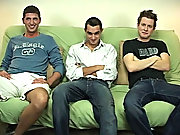 I had him move to sitting in the middle of the couch, and thats where I had Blake start with giving Jeremy a BJ gay male group sex origie