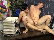 Jae gets aggressive and pushes Jayden to his knees, shoving his cock into the twink's mouth gay twink first time at Teach Twinks
