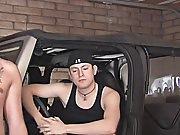 Blake has him over for a min, to rest gay blowjob hitchhiker at Broke College Boys!